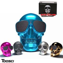 Wholesale Mp3 Skull Music - Hifi Speaker Portble Min Bluetooth Speaker Skull Pattern Wireless Stereo speaker Music Boombox for Phone Tablet PC