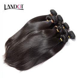 Wholesale Bleached Brazilian Weave - Wholesale Best 10A Brazilian Straight Hair 1 KG Lot Unprocessed Indian Malaysian Peruvian Human Hair Weaves Can Bleach Can Dye Natural Color