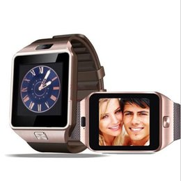 Wholesale Wholesale Cell Phone Sim Card - Smartwatch 2016 Latest DZ09 Bluetooth Smart Watch With SIM Card For Apple Samsung IOS Android Cell phone 1.56 inch Free DHL smartwatches