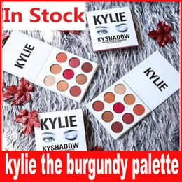 Wholesale Dhl Shipping Items - Kylie kyshadow the burgundy palette Eyeshadow palettes eye shadow powder 9 colors new items DHL free shipping