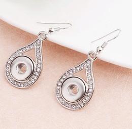 Wholesale Gift Trends - Water Drop Shape Noosa 12mm Metal Interchangeable Jewelry Earrings 12mm Snap Earrings Trend DIY Jewelry Interchangeable Earrings