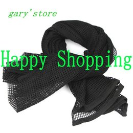 Wholesale Tactical Face Veil - Tactical Mesh Scarf Sniper Face Veil For Airsoft Camping Hunting Multi Purpose Hiking Cycling Scarves