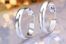 Canada 10pairs / lot bijoux placage de haute qualité 925 en argent sterling oreille cerceau boucles d'oreilles cadeaux de mode 35mm hyperbole grosse oreille anneau cheap ear rings big hoops Offre