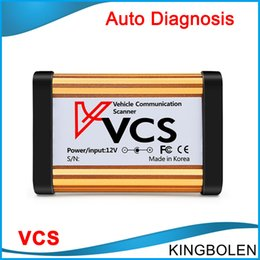 Wholesale Quality Communications - 2017 Top Quality VCS Vehicle Communication Scanner Interface VCS SCANNER VCS Interface car diagnostic tool better than cdp DHL Free Shipping