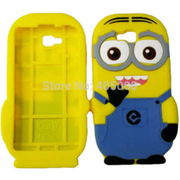 Wholesale Despicable Cover Case Lg - 3D Cute Cartoon Despicable Me Soft Silicone Case Back Cover Case For LG Optimus LG L9 II D605 Rubber Yellow Minion Phone Case