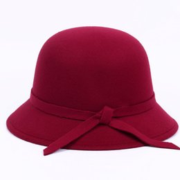 Wholesale Korean Winter Fashion Formal - Autumn Winter Lady Basin Shaped Hat Woolen Fabric Caps Korean Fashion Hat Women Mother Hat Hat Cap