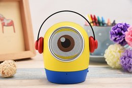 Wholesale Christmas Minion Usb - Cartoon Bluetooth Speakers Halloween Christmas Gifts Minions Portable Wireless Music Player support FM USB TF Handsfree Cute Subwoofers