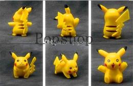 Juegos de muñecas niño niña online-4 cm Pikachu 12 Unids / set Q Monster Pikachu Figuras de Acción juguetes clásicos anime muñeca regalo de Navidad para niños niña