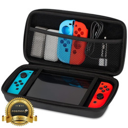 Wholesale Hard Carry Case Cover Bag - Nylon EVA Soft Cloth Bags Travel Storage Carrying Hard Case Compact Bag Cover for Nintendo Switch