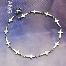 Wholesale Small Silver Cross Sterling - The ten is Meidi protection package post Cross Bracelet female small fresh South Korea jewelry accessories do not fade