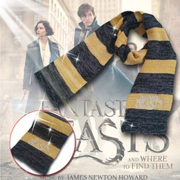 Wholesale Beast Man Costume - Scarves Fantastic Beasts and Where To Find Them Newt Scarves Harry Potter Sequel for Men Women Cosplay Costume Christmas Gift YYA495