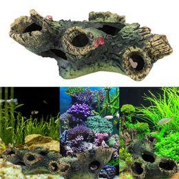 Wholesale Ceramic For Aquariums - Aquarium Decoration Trunk Bole Driftwood For Fish Tank Resin Ornaments Decoration Aquarium Decor Coral Ornamento Acuario order<$18no track