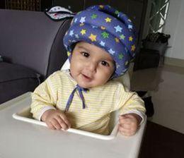 Wholesale safety cap helmet - Baby Walker Walking Safety Helmet Baby Bump Cap Safety Seat Toddler Falling Protective Cap Baby Head Protection Pad Helmet