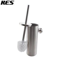 Wholesale Toilet Brush Style - Wholesale-KES SUS 304 Stainless Steel Toilet Brush Wall Mount for Bathroom Storage Modern Style Brushed Finish BTB260-2