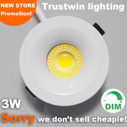 3W 110V 220V foyer living micro soffitto bianco mini spot dimmerabile mini COB LED downlight 3W down light da