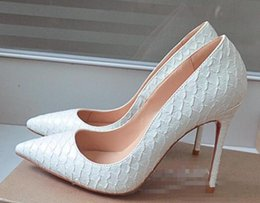 Wholesale Champagne High Heel Wedding Shoes - New Arrival Womens Shoes Pumps High Heels Fashion Sexy Styles Shoes Woman High Heels Genuine leather