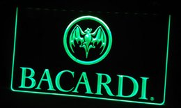 Wholesale Signs Decor - LS306-g Bacardi Banner Flag Neon Light Sign Decor Free Shipping Dropshipping Wholesale 6 colors to choose