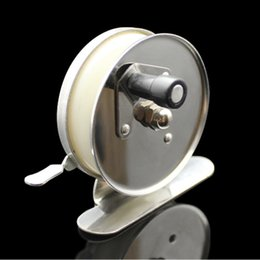 Wholesale Fishing Spools - Super Light Metal Iron Ice Fly Fishing Reel Fish Line Wheel Front End Spool 60mm Stainless Steel Round