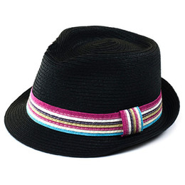 Wholesale Hat Womens - 2016 Summer Straw Hat Cap Womens Sun Hats And Caps Panama Hat Fedora Free Shipping
