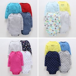 Wholesale Baby Girl Romper Cheap - wholesale baby romper 4pcs per lot solid color polka dot floral jumpsuit cotton sister brother match clothes high quality cheap kids clothes