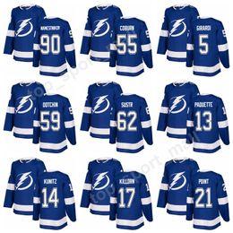 Wholesale Bay 13 - 2018 Hockey 90 Vladislav Namestnikov Jerseys Tampa Bay Lightning 55 Braydon Coburn 59 Jake Dotchin 5 Dan Girardi 62 Andrej Sustr 13 Paquette