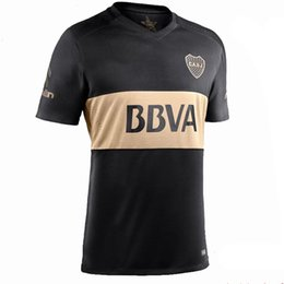 Wholesale 2017 Boca Soccer Jersey Boca Junior rd Soccer Jerseys Argentina Club Football Shirts Thai Quality Third Black Jeresys