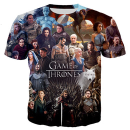 Wholesale Ghosts Games - Game of Thrones The White Walkers Ghost 3D Print Men Women T-shirt Casual Mens Tshirt Tops Tees Cool T Shirt