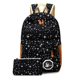 Wholesale Canvas Backpack For Fashion - Luggage & Bags Fashion Star Women Men Canvas Backpack Schoolbags School Bag For girl Boy Teenagers Casual Travel bags Rucksack