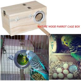 Wholesale Hanging Bird Cages - Wooden Bird Parrot Swing Stand Cage Colorful Hanging Toys For Cockatiel Budgie