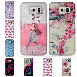 Wholesale Galaxy Print Bags - For Samsung Galaxy Note 5 J7 J6 S7EDGE S6 Case 3D Relief Printing Silicone TPU Cover For Galaxy S6 Phone Case For Samsung s6edge j5 Bag