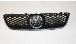 Wholesale Gti Chrome - Sporty Honey Comb Front Grille With Chrome GTI Edge For VW Polo 9N3