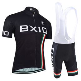 Wholesale Felt Jersey - BXIO Brand Felt Cycling Jersey Short Sleeve Black Sport Suit Cycle Clothes New Arrival Ropa De Ciclismo BX-0209H095