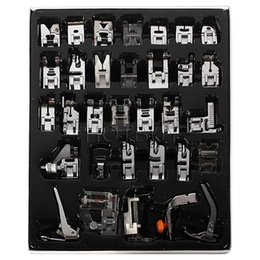 Wholesale Domestic Sewing Machines - New Domestic Sewing Machine Presser Foot Feet Kit Set 32pcs Free Shipping For Brother Singer Janome #4012