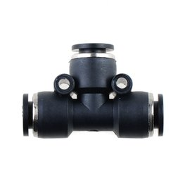 """Wholesale Pneumatic Push Fittings - 1PC Pneumatic Tee Union Connector Tube OD1 4""""One Touch Push In Air Fitting B00104 BARD"""