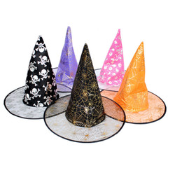 Wholesale Kids Sun Dresses - Witches Hat Halloween Dressing Halloween Witch Hat Mostsola Women Witch Hat for Halloween Masquerade Party for Adults Kids