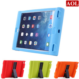 Wholesale Ipad Proof - Unique Shockproof Soft Silicone Stand Case For Apple iPad 2 3 4 air iPad mini Protective Drop Proof Cover For Children Kids Students