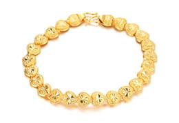 Wholesale Bracelet Link Types - 2016 New Fashion Luxury Wedding Bracelets Vintage 18K Real Gold Plated Bracelet Heart Bracelets For Women exquisite love Flower type Creativ