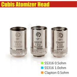 Wholesale Joyetech E Cig Tanks - Cubis BF Coil Head for Joyetech Cubis Tank ego AIO Kit SS316 0.5ohm 1.0ohm Clapton 1.5ohm Anti Leaking e cig atomizers replacement Coils