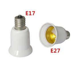 Wholesale Standard Bulb Base - 10pcs E17 to E27 LED Intermediate Base to Standard Base Bulb Lamp Socket Adapters