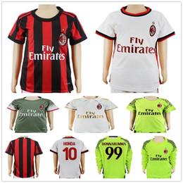 Wholesale Honda Ac - Kids AC Milan Soccer Jerseys 7 DEULOFEU 8 SUSO 9 LAPADULA 10 HONDA L.OCAMPOS ZAPATA 18 MONTOLIVO 70 BACCA Youth Football Shirts