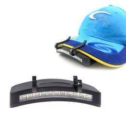 Wholesale Cap Flashlights Wholesale - Free Shipping 11 Led Clip Cap Lamp Hat Brim Cap Light Cap Lamp Caplights Flashlight Outdoor