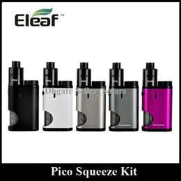 Wholesale Pico Battery - Original Eleaf Pico Squeeze Kit with Coral RDA 50W Max Output Single 18650 Battery Box Mod Bottom Feeding