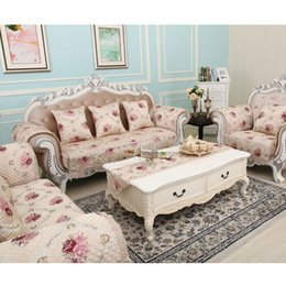 Wholesale Korean Style Sofas - Sofa Pillow Couch Cushion Cover Slipcovers Furniture Protector Cotton Four Seasons European American Style