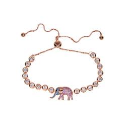 Wholesale Turquoise Elephant Bead - Cute African cz turquoise Elephant Bracelet Bead Animal Pendant Gold Charm Bracelets for Women Gift Women Girl pulseras