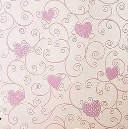 Wholesale Wholesale Country Floral - Wholesale- Non-woven Wallpaper papel de parede 3d wall paper kids room princess for home decoration blue pink color in love design W213