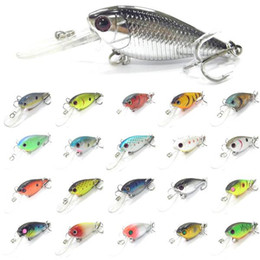 Wholesale Crankbait Wholesale - Fishing Lure Minnow Crankbait Hard Bait Fresh Water Shallow Water mix color Bass Walleye Crappie Minnow Fishing Tackle 02