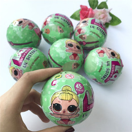 Wholesale Egg Boxes - Lil Sisters Series 2 LQL LOL Surprise Doll With Retail Box 7.5cm Girls Doll Tear Change Egg Can Spray Realistic Baby Toys