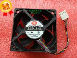 fans superred Promotion Origine SUPERRED 60 * 60 * 20 CHD6012EB-AH DC12V 0.30A contrôle de la température de PWM à 4 fils double ventilateur à billes