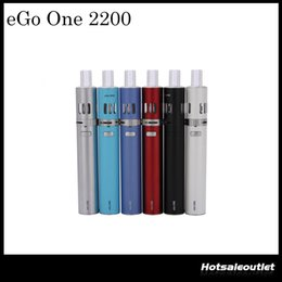 Wholesale e cigarette joyetech - Authentic Joyetech Ego One Kit 2.5ml Available Atomizer 2200mah and 1100mah Available Battery 510 Twist Petite E Cigarette 100% Original