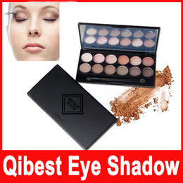 Wholesale Earth Charms - Qibest 12 Color Charm Eye Shadow set The Earth Color Nude Makeup shimmer brand eyeshadow Palette Cosmetics